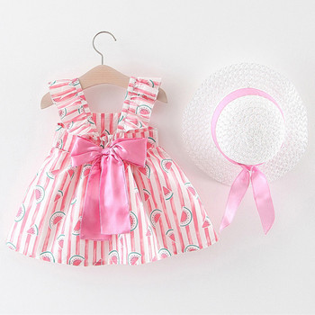 Baby party dress summer new girls round neck dress Sling Dress girls clothes sweet baby birthday dress Wedding dress Hooler dress galvanni dress