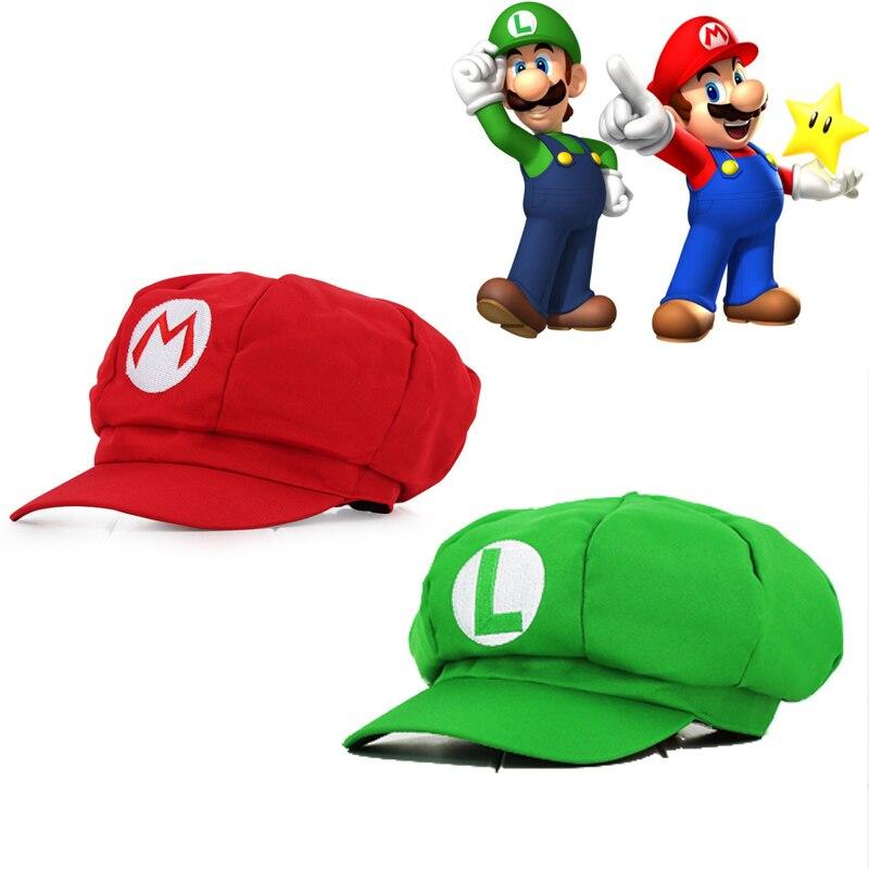 Super Mario Odyssey Cappello di Cosplay Luigi Bros Berretto Da Baseball Ottagonale Caps Anime Accessori Donna Uomo Regali di Halloween Mario Cap