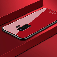 Tempered glass Case for Samsung Galaxy S9 Plus S9+ Mirror Surface Glass Back Cover Hard Case for Samsung S9 S 9 Soft Bumper Case s9 360 degree protection hard case for samsung galaxy s9 s 9 cover shockproof case for samsung galaxy s9 plus s9 case glass