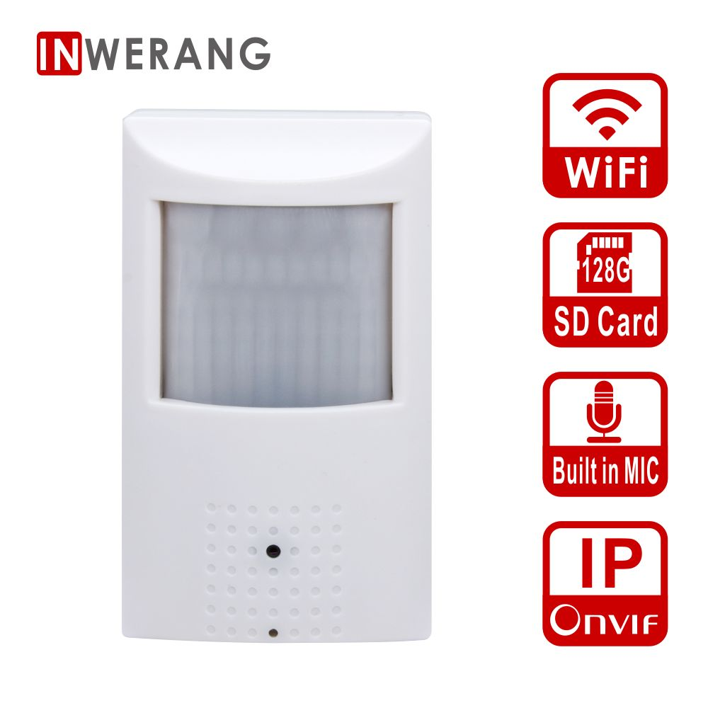 купить Inwerang 1080P WiFi IP CCTV Camera, ONVIF Wireless Wired P2P CCTV Mini Camera Support WiFi SD Card,15m IR distance Night Vision по цене 2522.03 рублей