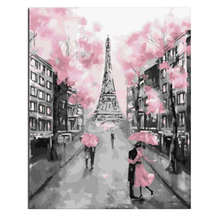 Coloring By Numbers,Paint Number,Picture,Pink London,Painting Calligraphy Tower