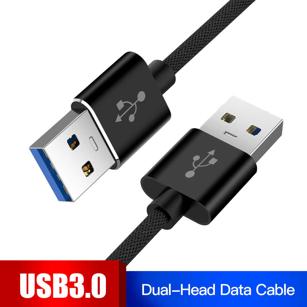 1m USB to USB Cable Type A Male to Male USB 3.0 2.0 Extension Cable for Radiator Hard Disk Webcom USB 3.0 Cable Extender Wire