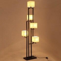 Chiński styl żelaza 5 głowice lampa podłogowa salon badania sypialnia dekoracyjne oświetlenie hones hall hotel oświetlenie podłogowe ZA