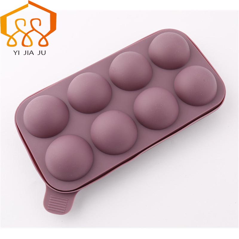 Lollipop Pop 8 Holes Mould Silicone Round Shape Chokolade Mould, Ice, Cupcake, Lollipop Sugar Tool Baking Tool Tray