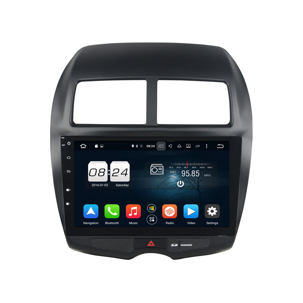 Octa Core 2GB RAM 32GB Flash Android 6.0 Car Multimedia GPS For MITSUBISHI ASX 2010-2012 WIFI BT GPS Navi Stereo Radio TV
