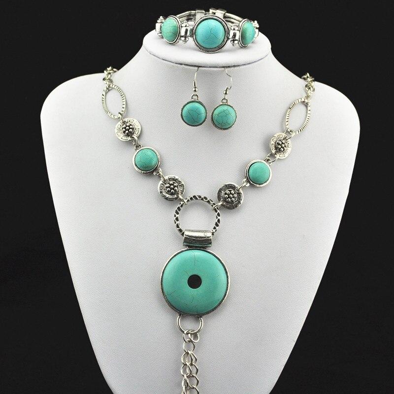 S250 Necklace Pendant & Earring & Bracelet,Jewlery Set,Women Gift,Vintage Look,Tibet Alloy