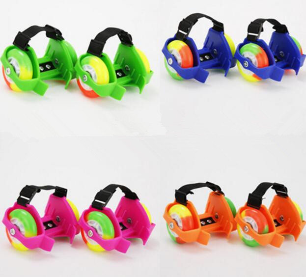 Wholesale Colorful Flashing Roller Small Whirlwind Pulley Flash Wheel Skate Shoes Flashing Roller Shoes Skating Shoes