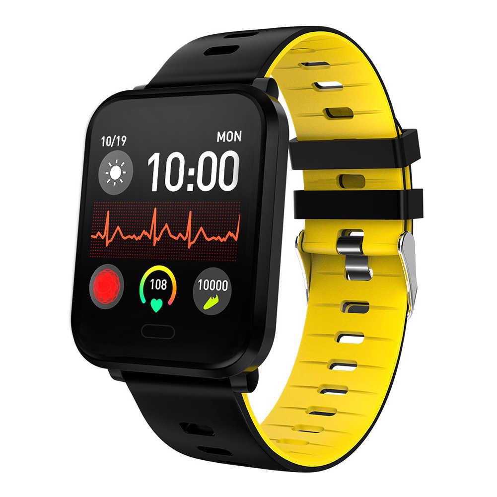 Умные часы IP67 водонепроницаемые 15 дней в режиме ожидания сердечного ритма кровяное давление Smartwatch Поддержка IOS Android