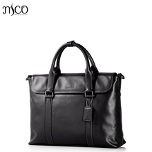 Men's Genuine Leather Briefcase Male Fashion Brief Cowhide portfolioTop-handle Bags Travel Business Laptop For Man Bolsas