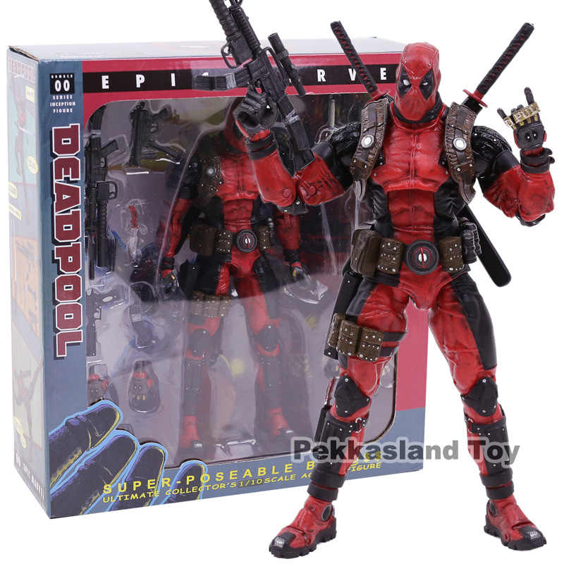 NECA Deadpool Marvel Ultimate collector 1/10 Escala Épica PVC Action Figure Collectible Modelo Toy