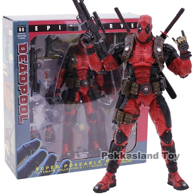 Neca deadpool ultimate collector 1/10 escala épica marvel pvc figura de ação collectible modelo brinquedo
