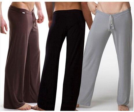 НОВЫЙ ПРОДАЖА 2014 ЛЮДЕЙ pijama случайный пижамные брюки мужчины Низкой талией мода свободные сексуальные мужчины пижамы черный, белый
