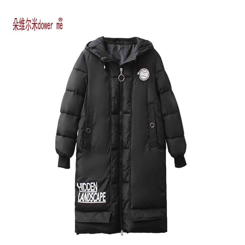 dower me 2017 Women Winter Jackets And Coats Placket Zipper Warm And Cold-Resistance Drawstring Hooded Windproof Parka