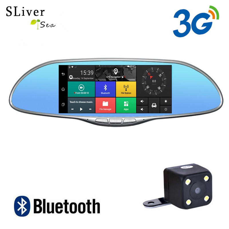 Best buy ) }}SLIVERYSEA 3G 7 Inch Car Dvr Camera Rearview Mirror