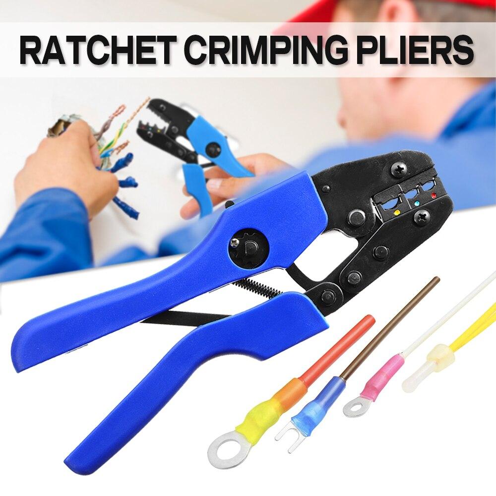 Handwerkzeuge Werkzeuge 1 Stücke Hand Crimper Zange Tools Ratsche Crimpen Zange Draht Anschluss Pins Crimp Bereich 0,5-1,5mm; 1,5-2,5mm; 4,0-6,0mm Awg 22-10