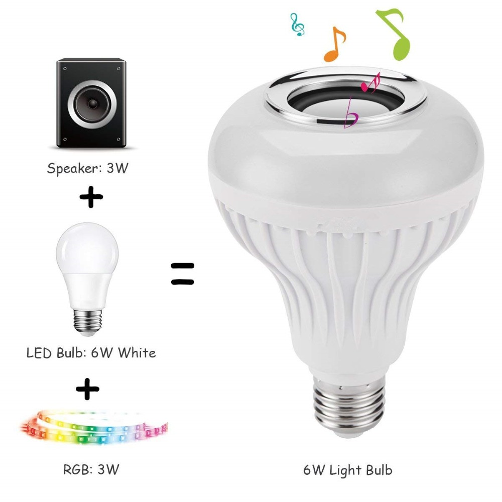 E27 Wireless Bluetooth Bulb Speaker With Remote Control Colorful Led Light For Cell Phone Home Outdoor Bt Music Blutooth In Speakers From