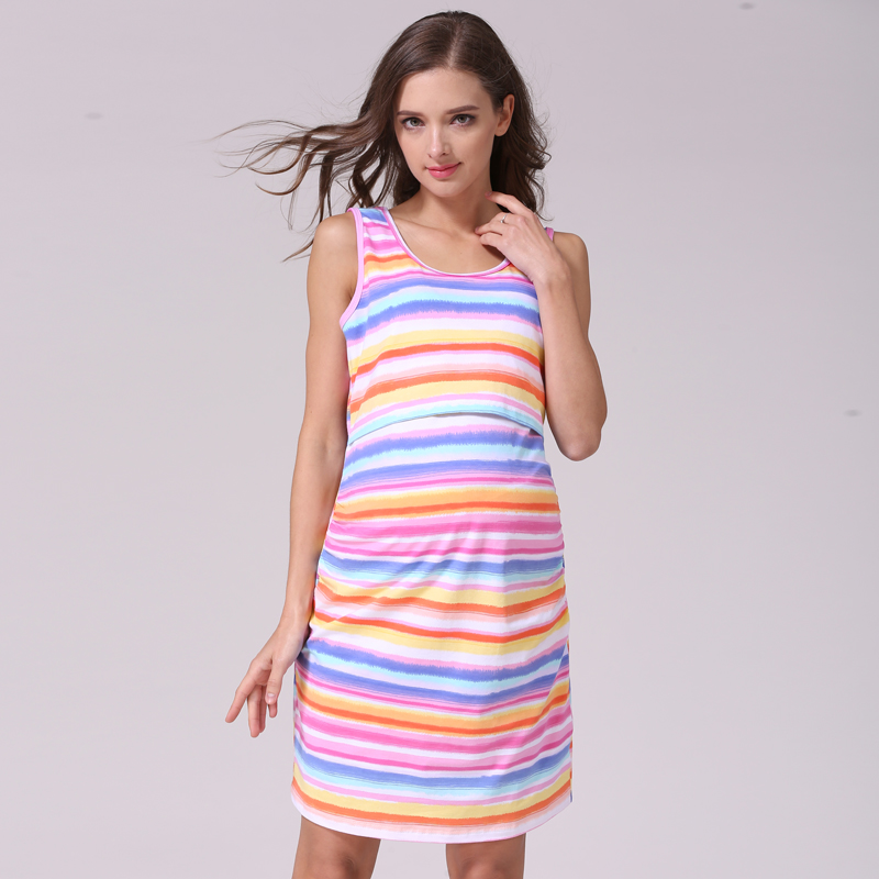 beb314e645a0 Emozione mamme sleeveless di estate di maternità vestiti di maternità  allattamento vestiti per le donne incinte gravidanza nursing dress in Emozione  mamme ...