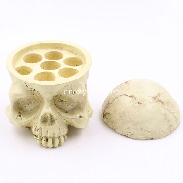 Skull Tattoo Ink Cup Holder 7 Holes