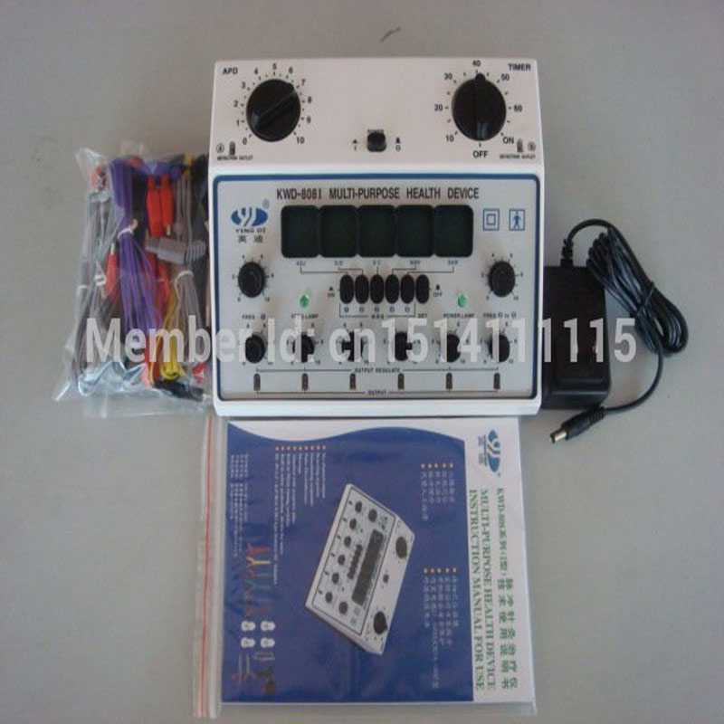 Ying di brand kwd808i model acupuncture stimulator machine Use for Body massage health care body   massage relaxant yingdi kwd808i eletro acupuncture stimulator 6 channels output multi purpose acupuncture stimulator health device dhl ship