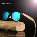 KITHDIA Polarized Wood Sunglasses Men Women Mirrored Glasses Bamboo Sunglasses Brand Designer With Boxes