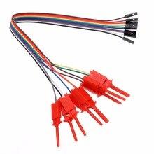 10 шт. высокая эффективность тесты крюк клип анализатора логики кабель захват зонд тесты зажим комплект случайный цвет желтый/красный/черный/зеленый