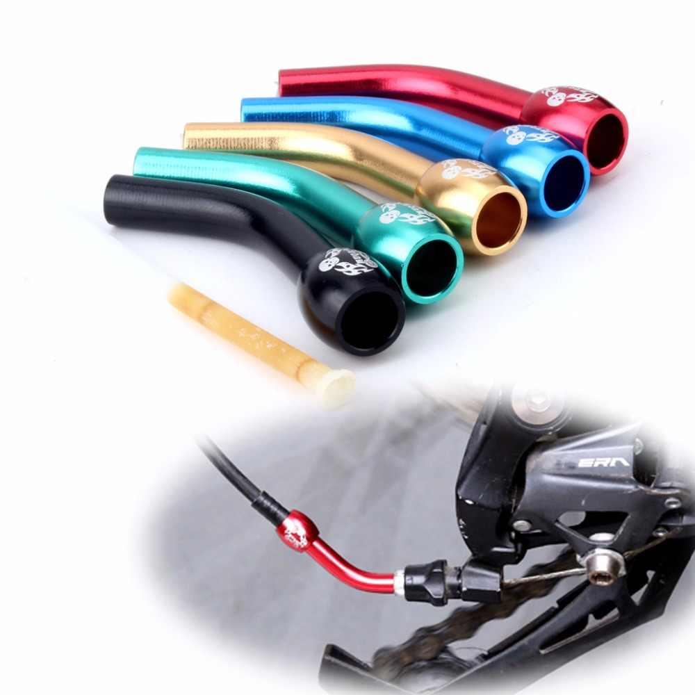 MUQZI vélo de route de montagne vélo pliable après le Conduit de fil de bicyclette en alliage d'aluminium ligne de dérail arrière Tube d'extension de Tube