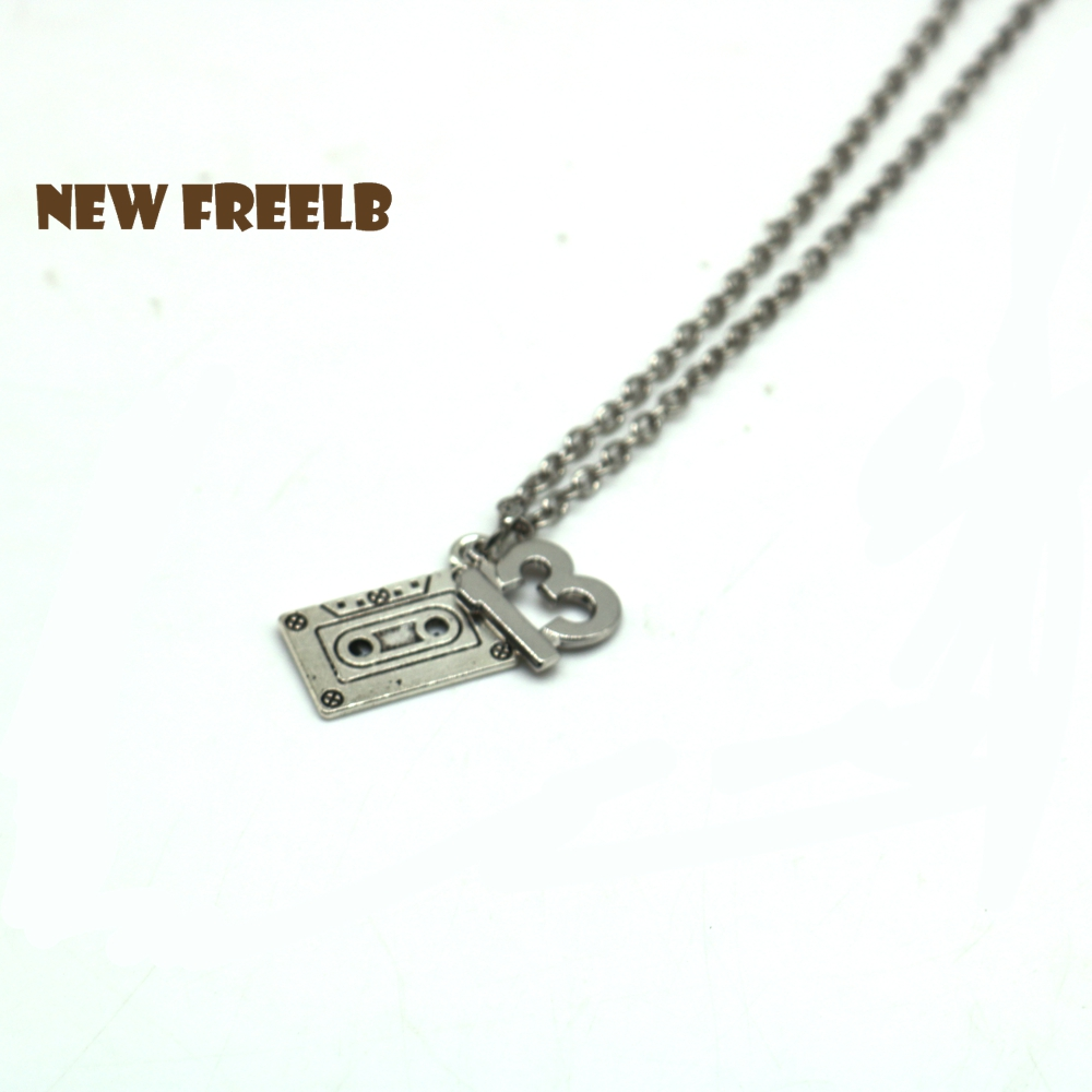 13 Reasons Why Character Necklaces Number 13 Cassette Tape Bike Inspired Charm Pendant F ...