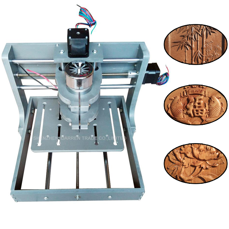 1PC DIY CNC Wood Carving Mini Engraving Machine 110V/220V PVC Mill Engraver Support MACH3 System PCB Milling Machine 300W стоимость
