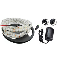 5M Waterproof SMD2835 395-405NM Purple 300 LED Strip Light + DC Connector Power Supply 12V
