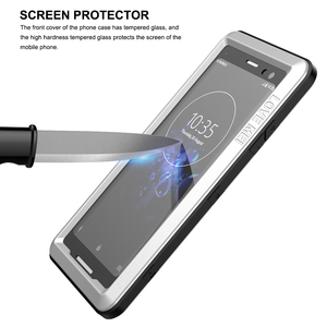 Image 5 - Funda de teléfono para Sony Xperia XZ3 armadura de protección de alta resistencia película de pantalla dura de Metal vidrio templado XZ 3 cubierta completa carcasas de silicona