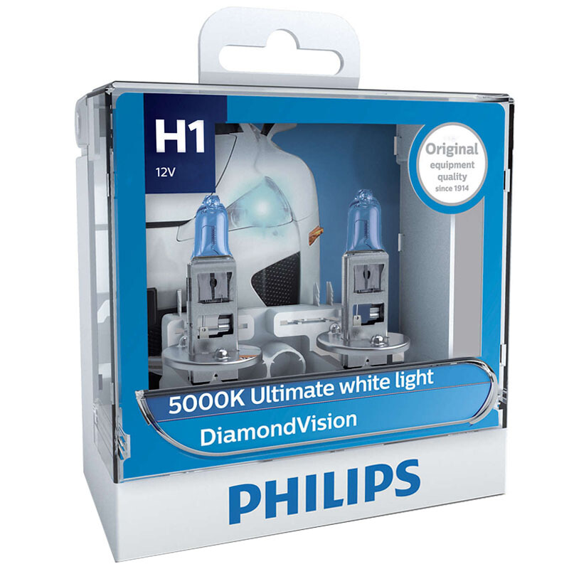 Philips Halogen-Bulbs Fog-Lamp Auto-Headlight 5000K Diamond-Vision 9005 Super-White H8