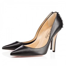 2016 schwarze Frauen Pumpen Nieten Fashion Damen Party Schuhe Sexy High Heels Spitz Zapatos De Mujer Sommer Stil Schuhe Party