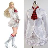 Oyunu tekken 6 lili için orijinal beyaz dress kravat eldiven tam set kostüm cosplay cadılar bayramı parti kız kadın suit