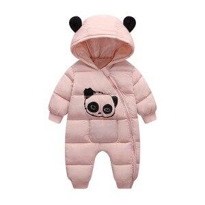 Image 4 - เด็กเสื้อผ้า 2020 New BornฤดูหนาวHooded Rompersผ้าฝ้ายหนาชุดทารกแรกเกิดJumpsuitเครื่องแต่งกายเด็กวัยหัดเดินRomper