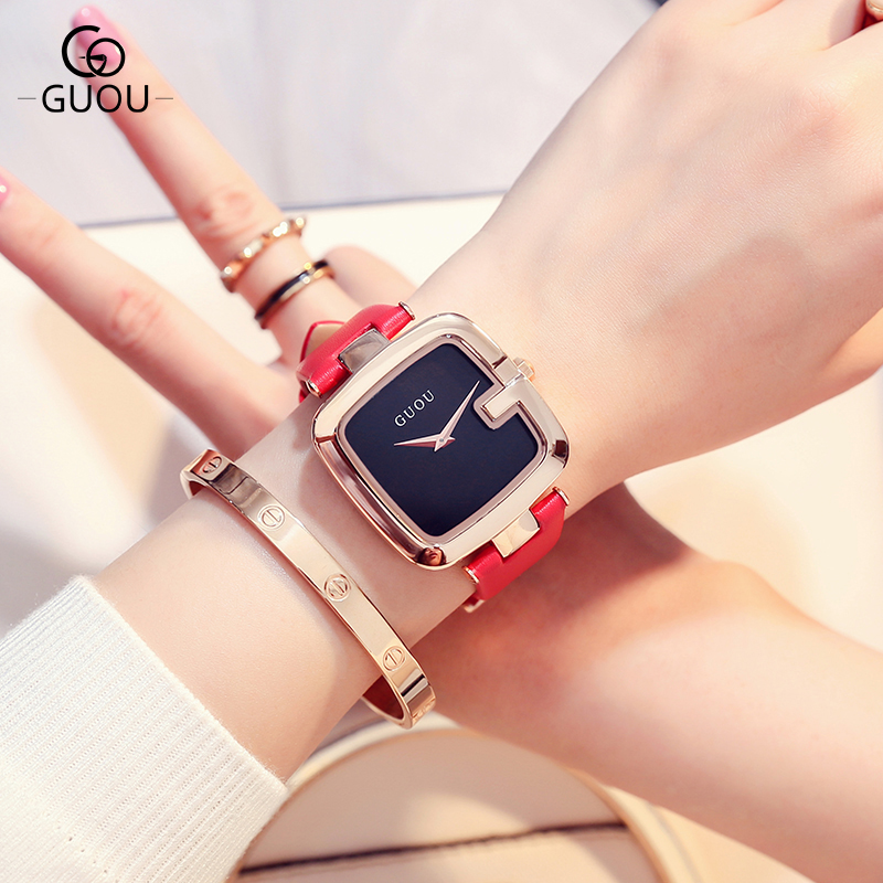 2017 New original design Fashion Watch Women Brand Luxury Leather Analog Watches Square Dial Quartz Wrist Women Watches relojes new fashion women retro digital dial leather band quartz analog wrist watch watches wholesale 7055