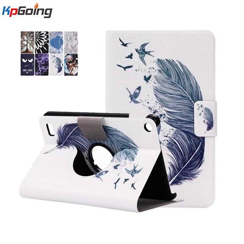 For Amazon Kindle Fire HD 7 2015 7 Inch Tablet  Card Slot Cover Flip Stand Printed Case PU Leather Case for Kindle Fire 7 (2015)