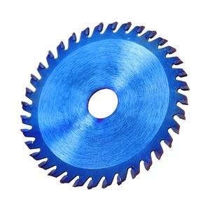 Image 4 - Xcan 1Pc 85x1 0/15Mm 24/30/36 Tanden Tct Hout Cirkelzaagblad Nano Blauwe Coating snijden Disc Hardmetalen Zaagblad