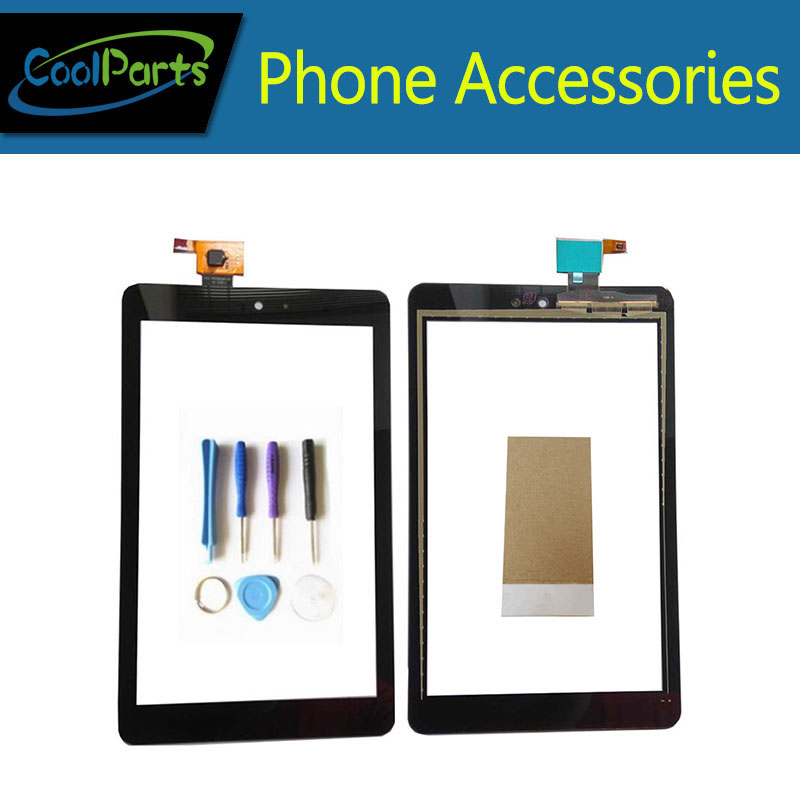 1PC/Lot High Quality For Dell T02D Venue 8 3830  Touch Screen Digitizer Touch Panel Glass With Tool&Tape Black Color