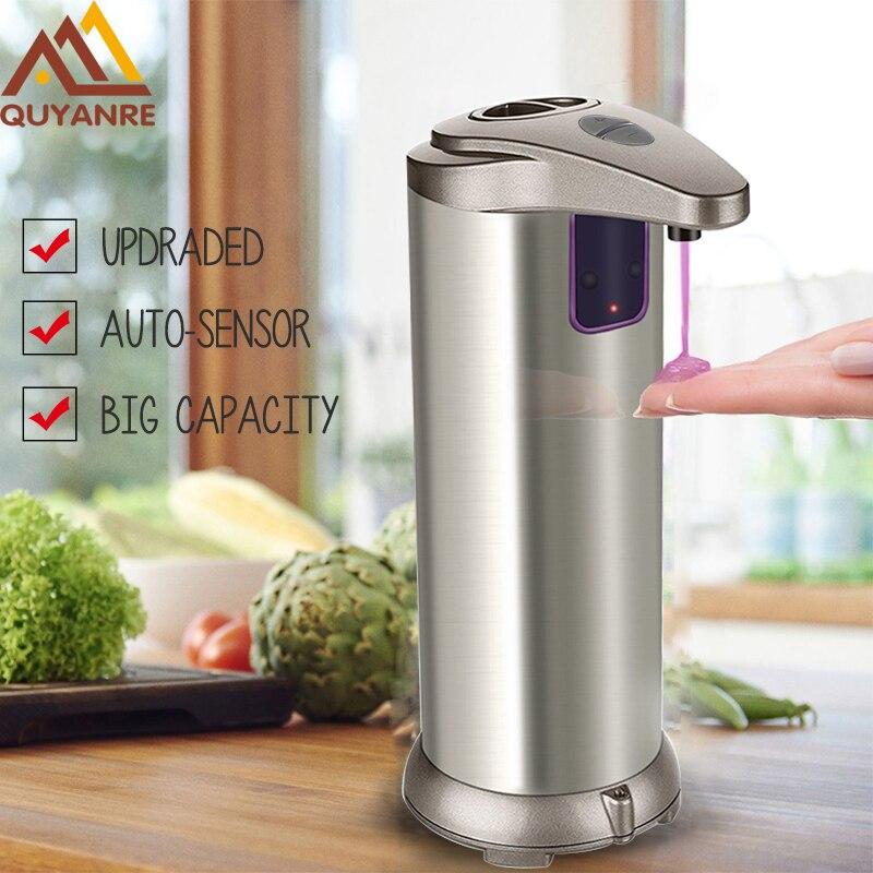 Quyanre Automatico Dispenser di Sapone ABS Placca Built-In infrarosso del Sensore A Infrarossi Handfree Sapone Disinfettante Dispenser