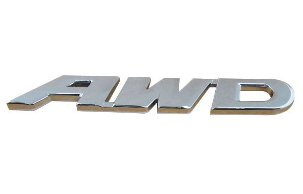 Auto Chrome AWD for 12-14 CR-V Crosstour trunk Emblem Badge Sticker chrome c180 letters for c 180 c class trunk emblem badge sticker