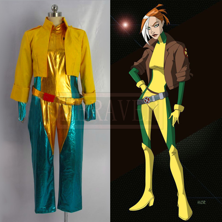 Free Shipping Cosplay Costume X-MEN Rogue Uniform New in Stock Halloween Christmas Party