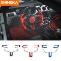 Автомобильные наклейки SHINEKA для Ford Mustang ABS  наклейка на руль из углеродного волокна для Ford Mustang 2015-2016  аксессуары для стайлинга автомобилей