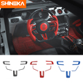 SHINEKA Автомобильная наклейка s для Ford Mustang ABS углеродное волокно рулевая наклейка для колес для Ford Mustang 2015-2016 аксессуары для стайлинга автомоби...