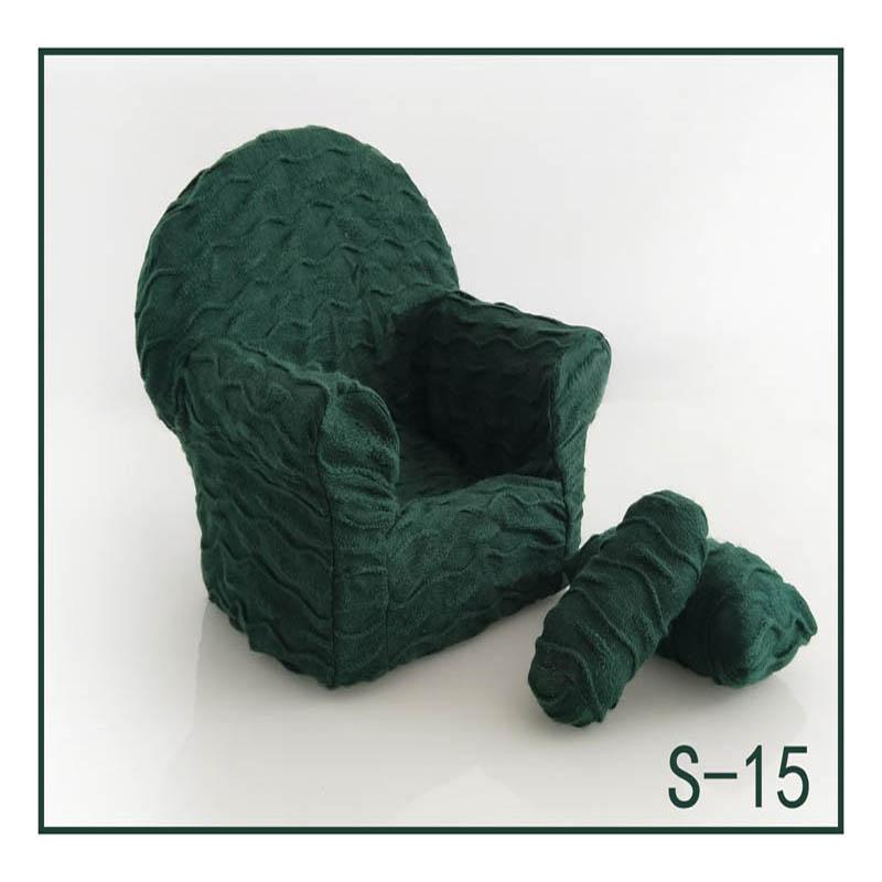 Реквизит для фотосъемки новорожденных, позирующий мини-диван, кресло на руку и 2 подушки, реквизит для фотосессии, студийные аксессуары для детей 0-3 месяцев - Цвет: 14