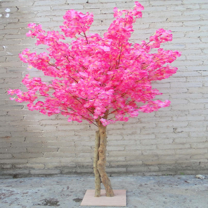 New Artificial Cherry Flowers Tree Simulation Fake Peach Wishing Trees for Home Decor and Wedding Centerpieces Decorations - 5