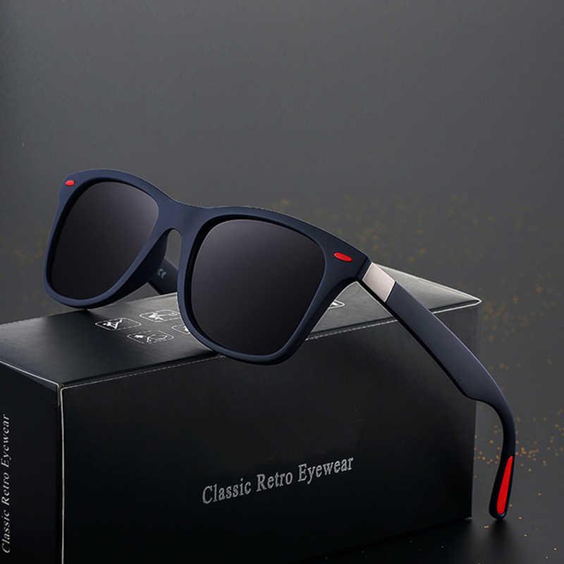 a4ac5df1c TOYEARN Classic Square Polarized Sunglasses Men Women Brand Designer Vintage  Driving Goggle Rivet Mirror Male Sun