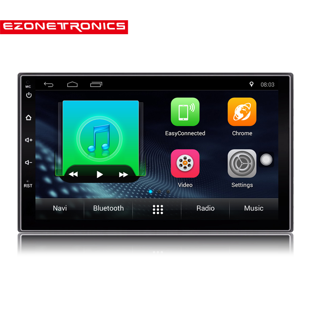 2 Din Android 7.1 Car Radio Stereo 71024*600 Universal Car Player GPS Navigation Wifi Bluetooth USB Radio Audio Player(No DVD)