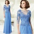 Синий с длинными рукавами свадебное платье свадебное платье разделе 2015 новый невесты мать платья для свадеб