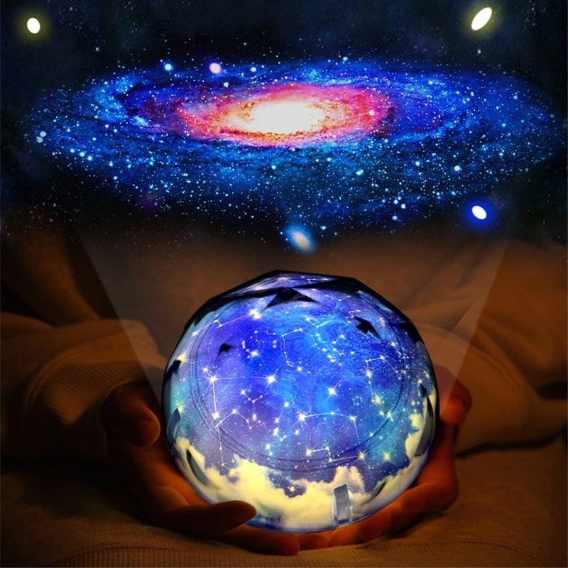 Led Interstellar Night Light Rotary Planet Magic Projector Earth Universe Lights Colorful Flashing Starry Sky Table Lamp