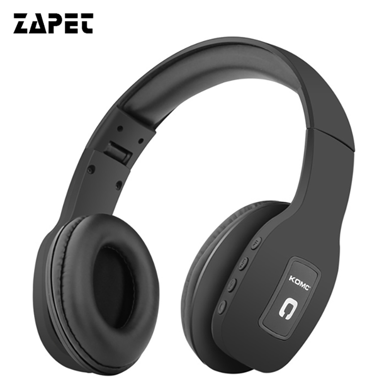 ZAPET Earphones Bluetooth Headphone HIFI Stereo Music Headset Support FM Radio SD Card with mic for mobile xiaomi iphone sumsamg 2017 new high end wireless bluetooth headphone stereo headset for iphone samsung xiaomi fm radio tf card mic aux mp3 lcd display